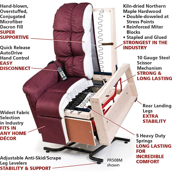 Los Angeles Chair Reclining Seat Lift Chair Recliner