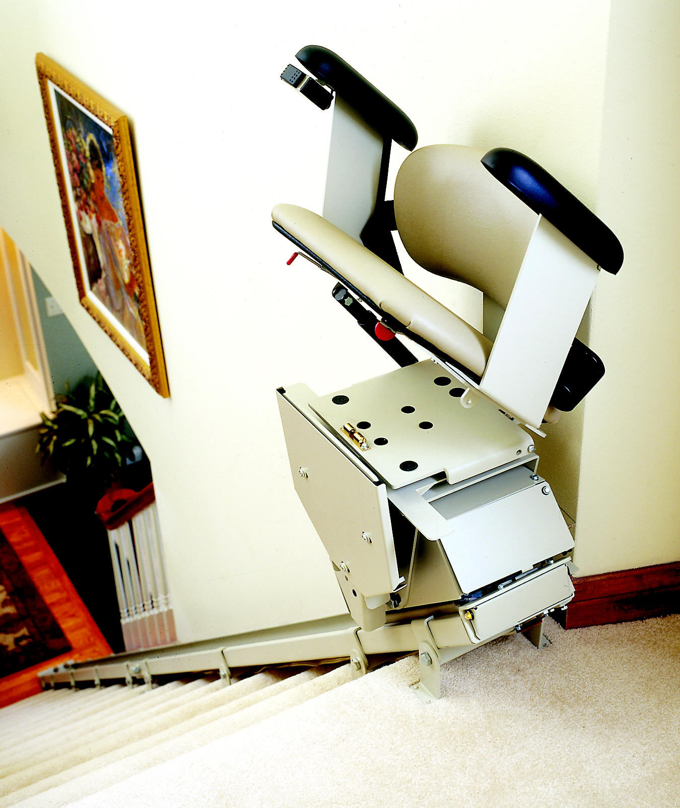 brunocom indoor and outdoor straight rails and curved rails stairlifts - Lift Up Stairs