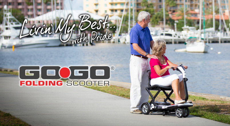 Gogo scooter pride mobility lightweight go go travel for Motorized carts for seniors