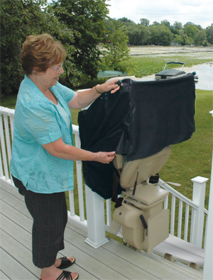 Outdoor Electra-Ride Elite Straight rails stairlift