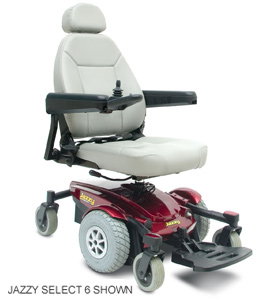 Jazzy Select 6 power chair electric wheelchair by pride mobility