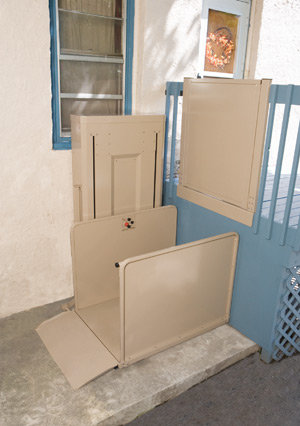 Bruno VPL-3100 Residential wheelchair elevator Vertical Platform Lift