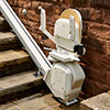Acorn Outdoor Stairlift folded up