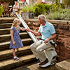 Acorn Outdoor Stairlift In Use