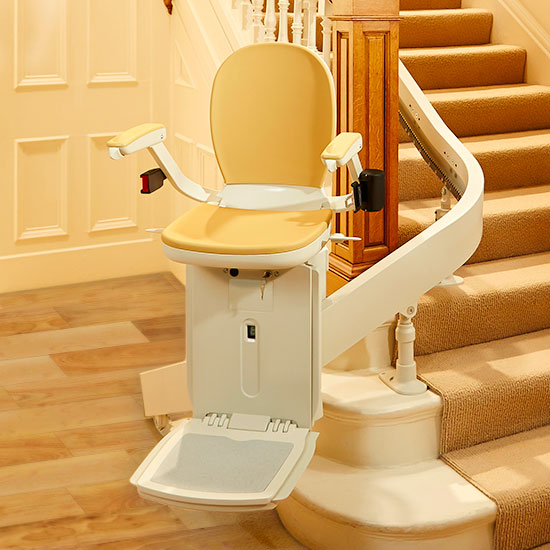 Of Custom Curved Home Residential Stair Lifts By Bruno And Acorn