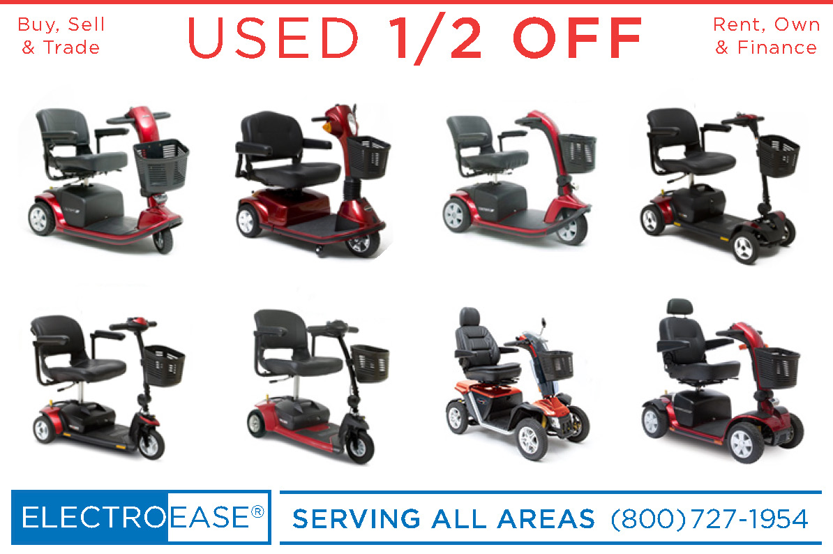 used mobility 3 and 4 wheel scooters