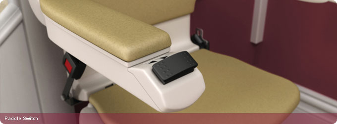Curved stair lifts paddle switch