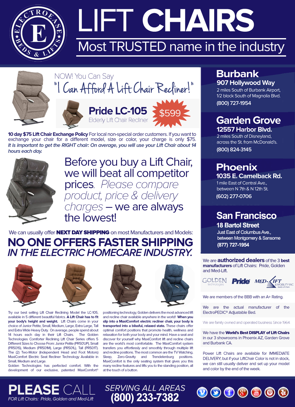 Los Angeles Ca Lift Chairs Pride Lift Chairs Visit Our