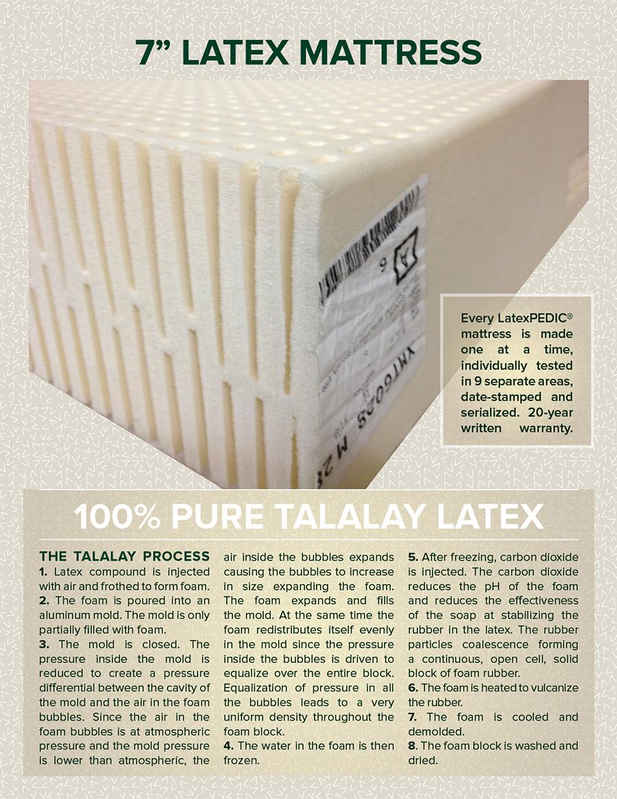 los angeles ca 7 latex mattress adjustable bed natural organic foam
