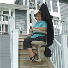 bruno SRE-2010E outside exterior stairlifts outdoors phoenix az scottsdale sun city tempe mesa are glendale chandler peoria gilbert chandler surprise   stairchairs