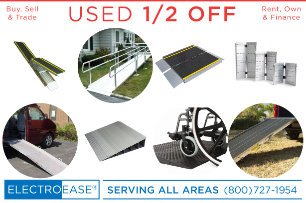 used aluminum ramps folding mobility access handicap scooter wheel chair powerchair ramp