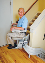 CRE-2110 Curved Rail Stairlift