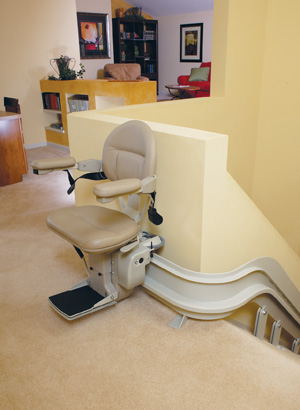 Electra-Ride III Indoor Custom Curved Rail stairlift