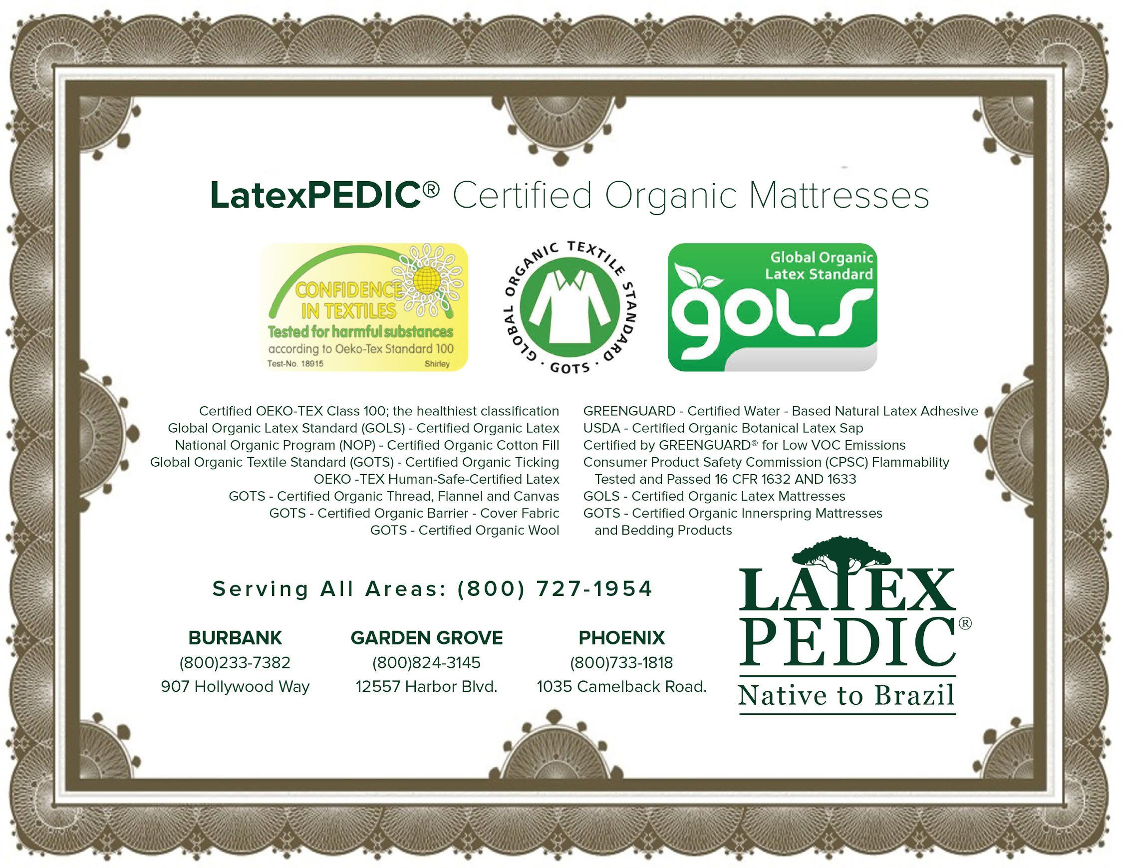 Natural Beds Anaheim Electric Adjustablebeds Organic Latex