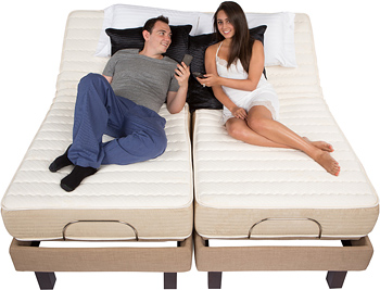 latex mattress adjustable beds