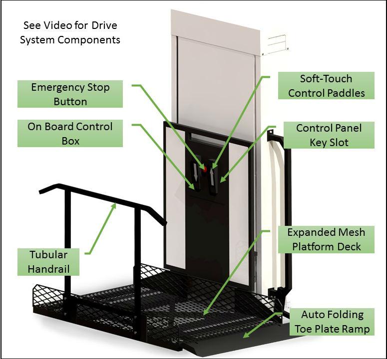 Vertical Lift Parts : Vpl phoenix az authorized wheelchair elevator vertical
