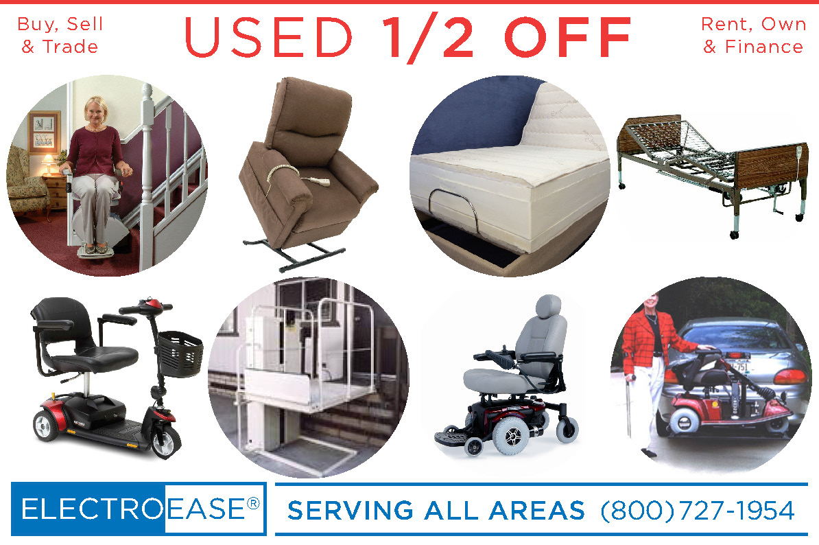 LA used electric adjustable & hospital beds, recycled lift chair & stair Lift, second mobility scooters & pride jazzy powerchair wheel chairs seconds