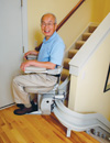 Electra-Ride III Custom Curved rails stairlift