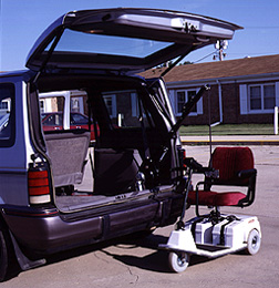 Used mobility scooter mobility hitch receiver wheelchair for Motorized wheelchair lifts for cars